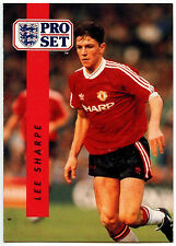 Lee Sharpe Manchester United #151 Pro Set FOOTBALL 1990-1 TRADE card (c363)