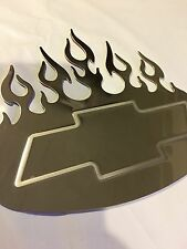 Bully Tribal Flame Emblem Stainless Steel Decal Chevy Hot/rods,Classic