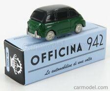 Officina 942 art1010 scala 1/76 fiat 600 multipla 1956 green modellino auto