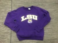 Louisiana State University LSU Pullover Crewneck Sweatshirt Men's Small Purple