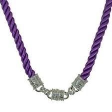 Kirks Folly Mystic Cord Interchangeable Magnetic Necklace Silvertone & Purple
