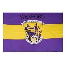 Wexford GAA Official 5 x 3 FT Flag - Crested Irish Gaelic Football Hurling