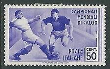 1934 REGNO MONDIALI DI CALCIO 50 CENT MH * - Y058