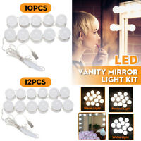 10/12x USB Hollywood LED Vanity Mirror Makeup Dressing Table Dimmable Light Bulb