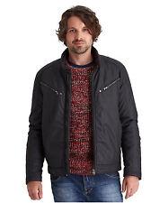Cotton Zip Neck Biker Jackets for Men