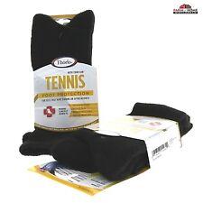Thorlo Unisex Tennis Thick Padded Crew Socks ~ Black ~ Large ~ NEW