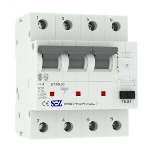 Sez fi / Ls B13 30mA 4p 10kA Rcbo fi/ Mcb 0090902 Combi Switch 9944