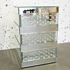 VENETIAN Mirrored Mirror Bedside Bed Side Table Cabinet stand Bedroom crystal