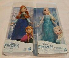Disney ANNA and ELSA Classic Dolls Frozen - New- Hasbro-New in Box
