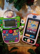 Toy Story Buzz Lightyear Lot of 2 Handheld Games Vtech Learn and touch baby phon