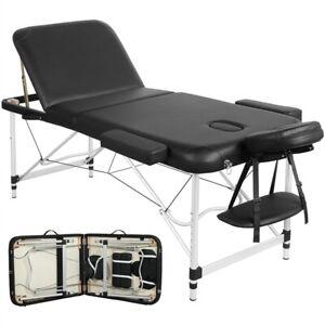 Massageliege Massagebank Massagetisch Therapieliege Alu klappbar 3 Zonen+Tasche