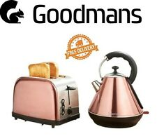 Goodmans Copper Style Pyramid Kettle & 2 slice Toaster Set  -3kw Rapid Boil