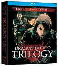 Girl with the Dragon Tattoo: Complete Swedish Movie Trilogy 1-3 Boxed BluRay Set