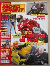 MOTOSPRINT n°9 2000  con maxi Poster BMW DAKAR - Test Suzuki GSX-R 750   [P71]