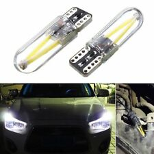 2Pcs 12V-24V T10 194 168 W5W COB LED Car Glass License Plate Light Bulb White