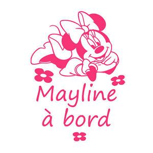 Minnie Mouse Personnalisé Nom À Bord Voiture Feuilleté Signe