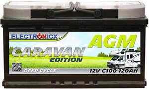 Electronicx Caravan Edizione Batteria AGM 120AH 12V Roulotte Barca Fornitura