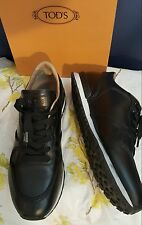 Tod's Black Mid Top Leather Sneakers Men's sz 8.5