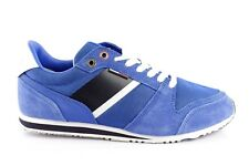 Tommy Hilfiger Leather Men's Sneakers Low Low Shoes Lace up Suede Blue 42