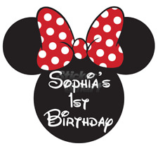 Personalised Customised Disney Mini Mouse Party Favour Labels