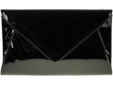 Ladies Glossy Patent Envelope Clutch Bag Shiny Evening Bag Handbag Purse K5090