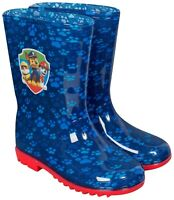 Official Paw Patrol Wellies Wellington Rain Boots Kids Boys Blue Chase Size 6-12