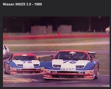 Nissan 300ZX 3.0 1989 Racing Rare - Out of Print Car Poster! Own It!