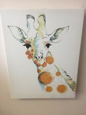 GiraffeStretched Canvas Board Wall Art Picture Print  Home Decor