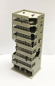 Outland Models Railway Scenery City Ruin Building Abandoned Tall Office N Scale