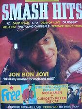 SMASH HITS 8/4/87 - BON JOVI - DEAD OR ALIVE - GEORGE MICHAEL - MEL & KIM