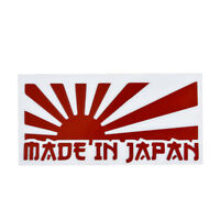 Red Rising Sun Made In Japan JDM Car Sticker Decal Motorcycle Stickers Car Newly