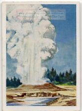 Geyser Hot Water Discharge Steam  1930s Trade Ad Card