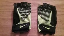 Nike Men's Lock Down Training Gloves Half Finger Men's Large black/volt Euc