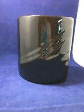 mid century modern black vase