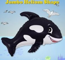 "KILLER WHALE SUPERSHAPE BALLOON SEA OCEAN THEMED PARTY 30"" FOIL BALLOON!"