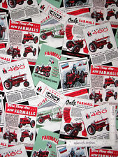 International Harvester Farmall Tractor Advertisements Cotton Fabric By The Yard