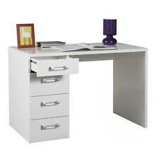 Scrivania ufficio bianco laccato con 4 cassetti 110 x 60 cm arredo moderno