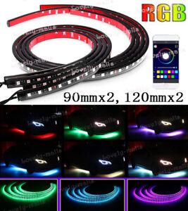 "RGB 5050 LED Neon Car Tube Strip Light Underglow Underbody APP Control 48"" 36"""