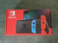 Nintendo Switch V2 32GB Console w/ Neon Blue & Neon Red Joy Con Brand New!