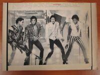 Vtg Wire AP Press Photo Tito, Marlon, Randy, Jermaine & Michael Jackson Five #2