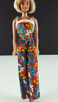 Barbie Clone Mod Floral Outfit Cotton Halter w/ Matching Pants 1970s Clothing