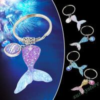 Fashion Mermaid Keychain Fish Scale Keyring Bag Car Pendant Accessories Gift