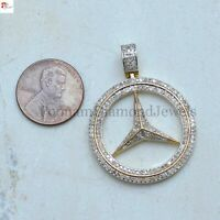 Natural Pave Diamond Fish Pendant 925 Sterling Silver Finding Jewelry GFS2588