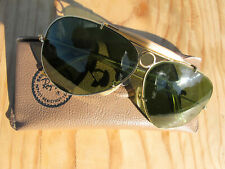 Vintage Ray Ban B&L U.S.A. Shooter RB3 True Green 70's Aviator Sunglasses