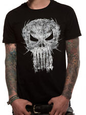 Logotipo de Calavera Punisher destrozado los defensores Daredevil Marvel Negro para Hombre Camiseta