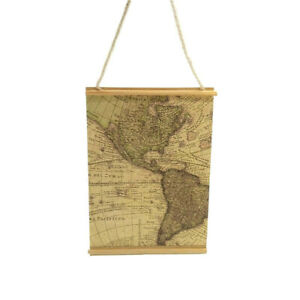 """Dollhouse Hanging Decoration Map of America Miniature Wall Accessories 2.6*1.8"""""""