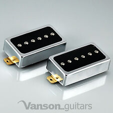 "NUOVO Vanson polepieces V P90 Set ""Humbucker dimensioni"" pickup single coil, HB90 N&B CR"