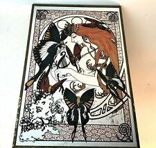VINTAGE Queen of Butterfly Fairies by Jean Furuichi PRINT ON MIRROR GLASS Japan