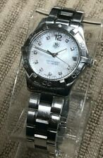 TAG Heuer Women's WAF1312 Aquaracer Stainless Steel MOP Diamond Dial Wrist Watch