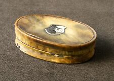 Georgian Horn Oval Snuff Box